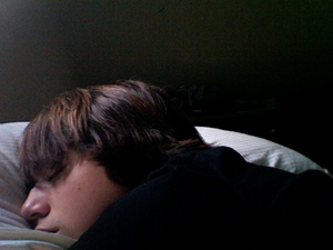 Blake Robbins was photographed by a laptop while he slept in bed, his lawyer asserts. The Robbins family provided this image to the Philadelphia Inquirer.