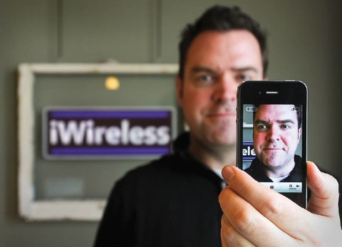 Kevin McMindes of iWireless - Photo by Erik Petersen/Chronicle