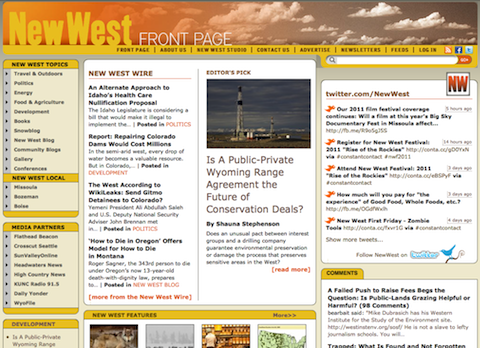 NewWest homepage