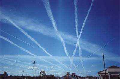 Contrails from Wikipedia via NOAA