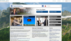 Montana Department of Labor and Industry homepage